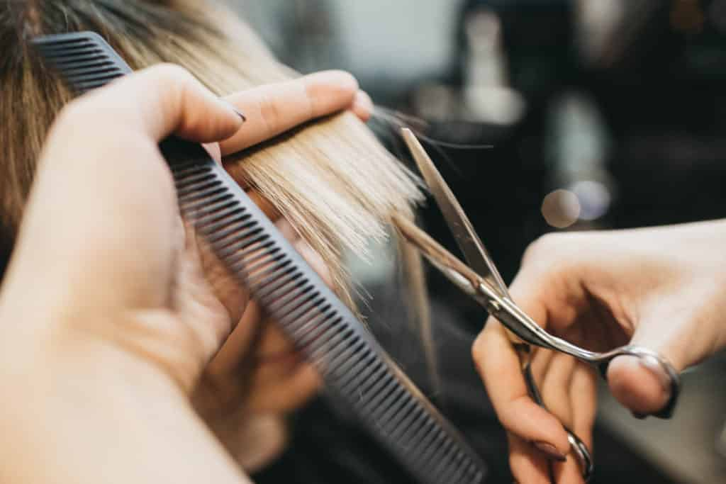 Trim or chop your hair to grow out chemicals