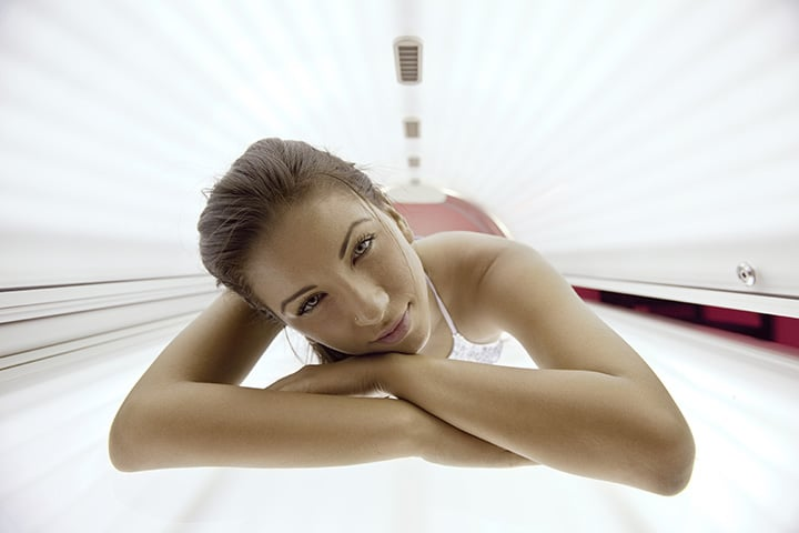 Why you can't wear makeup in a tanning bed