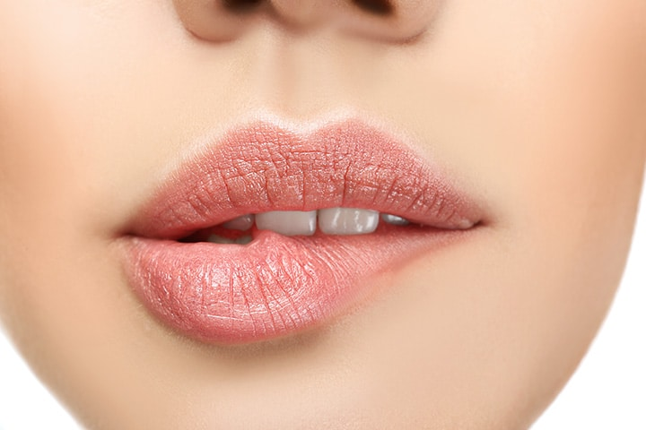 Don't rub your lips together or bite them to make lipstick last all day