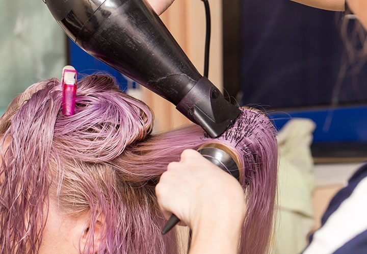 What happens if you leave semi-permanent hair dye in too long