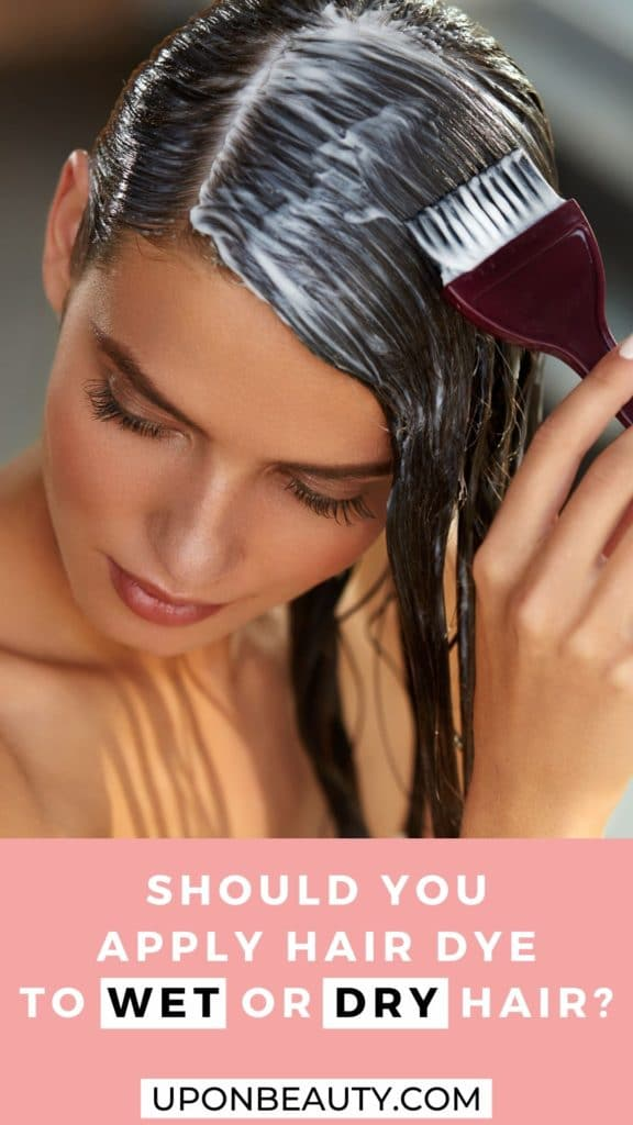 Should you apply hair dye to wet or dry hair