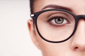 Attractive eyes in glasses