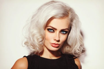Attractive girl with bleached hair