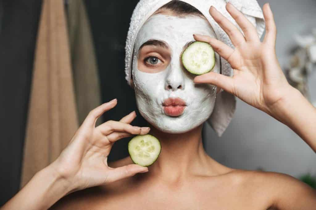 Cucumber slices are helpful with dark circles under your eyes