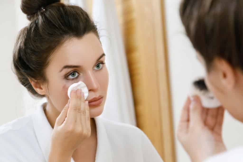 Gently remove your makeup